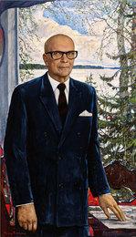 Portrait of the President of Finland Urho Kaleva Kekkonen