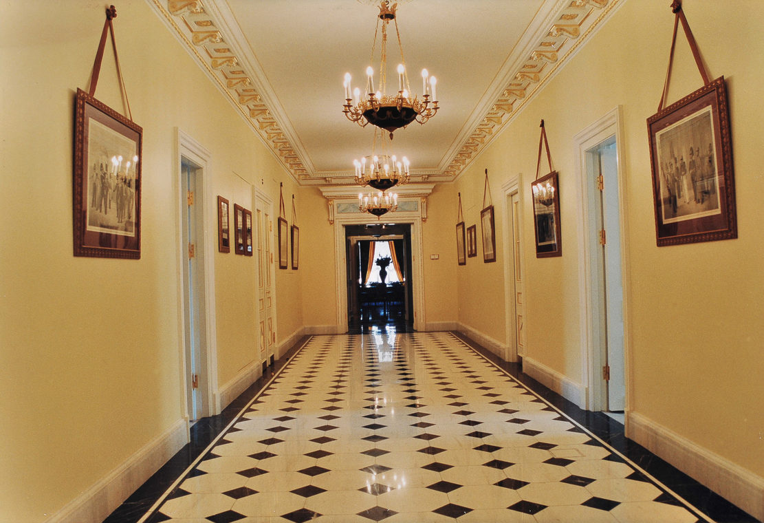 Corridor in Grand Kremlin Palace. Moscow