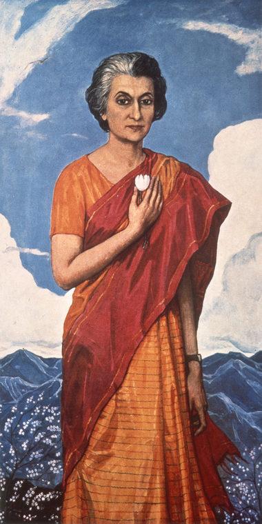 Портрет премьер-министра Индии Индиры Ганди