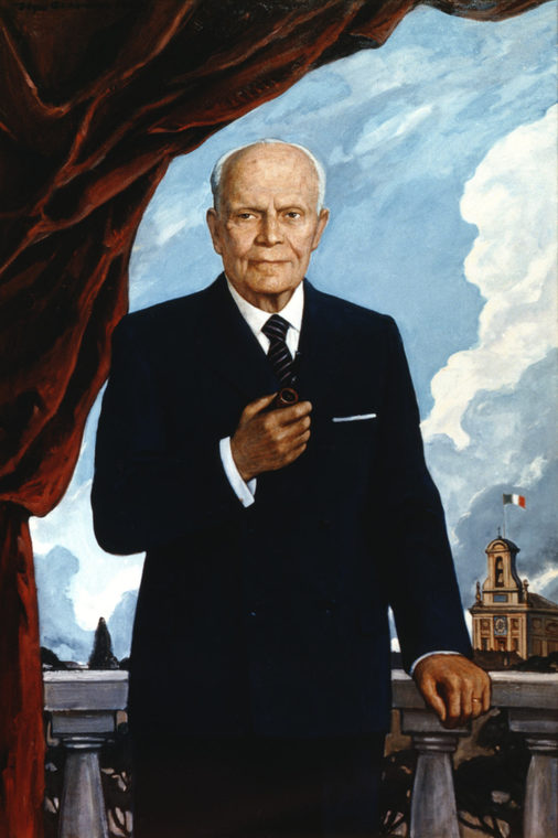 Portrait of the President of Italy Alessandro Pertini