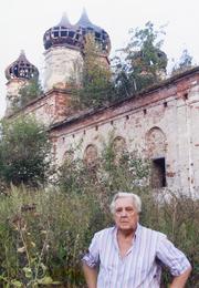 Илья Глазунов в деревне Семибратово у Ростова Великого