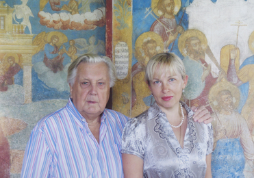 Ilya Glazunov and Director of the Moscow State Art Gallery of Ilya Glazunov I.Orlova. Yaroslavl