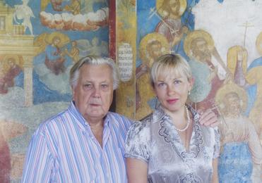 Илья Глазунов и директор Московской государственной картинной галереи Ильи Глазунова И.Д. Орлова. Ярославль