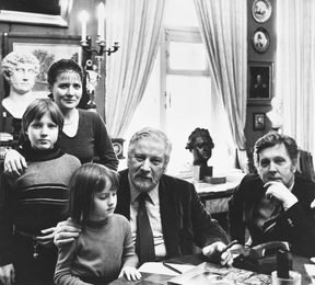 Famous Director and Actor Peter Ustinov Vsiting Family Glazunov in Moscow