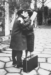 Ilya Glazunov and Gina Lollobrigida at the Appia Antica Villa.  Rome. Italy