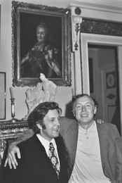 Ilya Glazunov and Actor Innokenty Smoktunovsky. Moscow